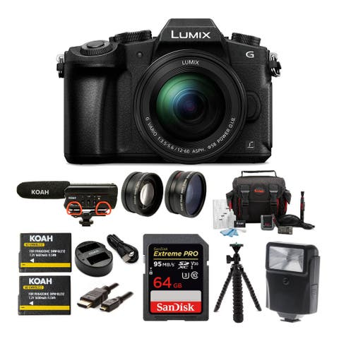 Panasonic LUMIX G85 Camera with 12-60mm Lens and Microphone Bundle