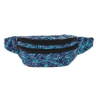 CTM® Patterned Multi Pocket Waist Pack