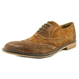 Hush Puppies Style Brogue Wingtip Toe Leather Oxford