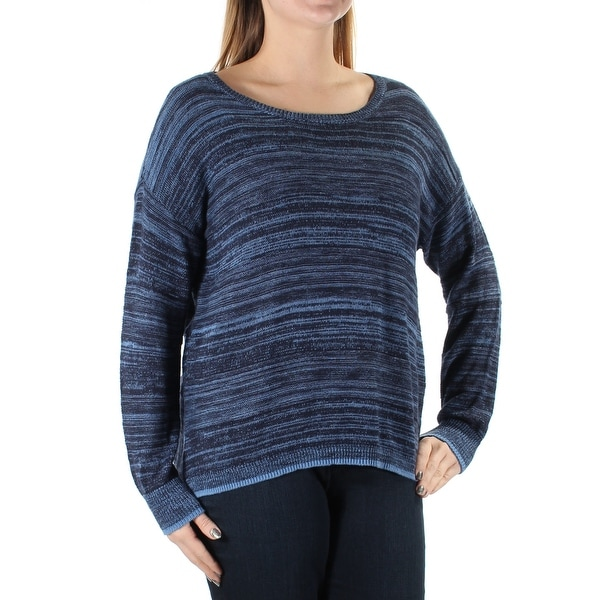 8195d39409c Shop VINCE CAMUTO Womens Navy Long Sleeve Jewel Neck Top Size: M - On Sale  - Free Shipping On Orders Over $45 - Overstock.com - 21270755