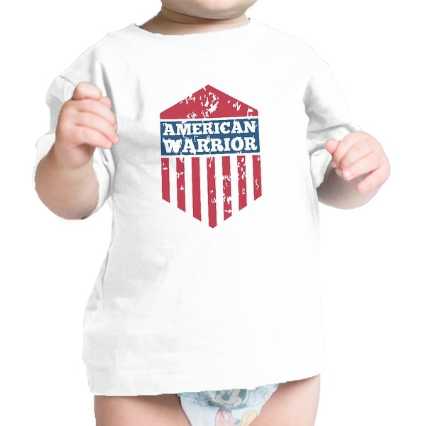 American Warrior White Graphic Baby T-Shirt Great Baby Shower Gifts