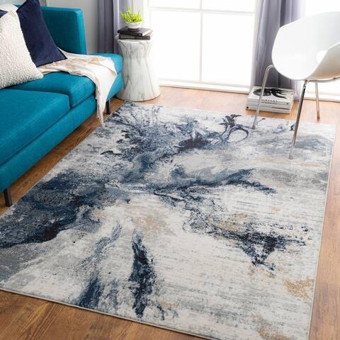 Dahlia Abstract Marble Area Rug