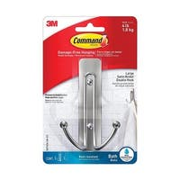 Command 5000491 4.03 in. Large Adhesive Strips Hook  Plastic  4 lbs