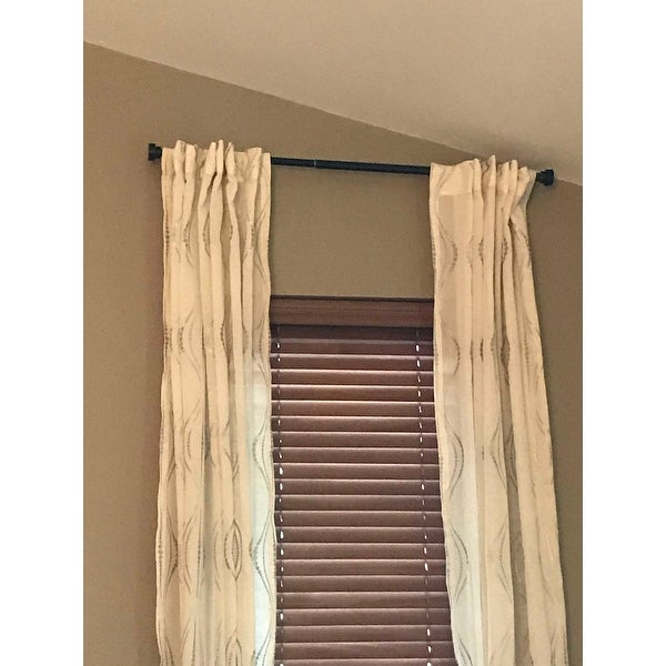 Shop Instyledesign Beret 1 Inch Diameter Adjustable Curtain Rod
