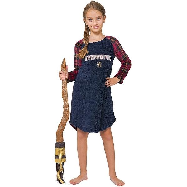 9264e8e06 Intimo Big Girls' Harry Potter Gryffindor Fleece Raglan Nightgown