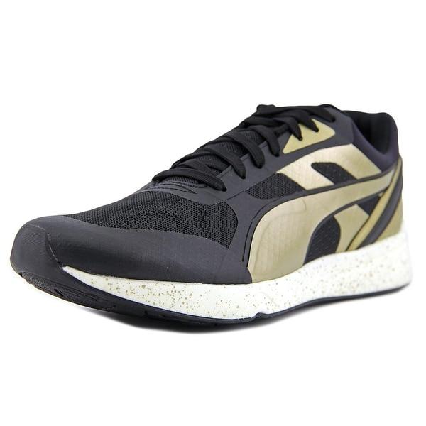 Puma 698 Ignite Metallic Men Black/Metallic Gold/White Running Shoes