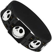 Nightmare Before Christmas Jack Expressions Gray Elastic Bracelet