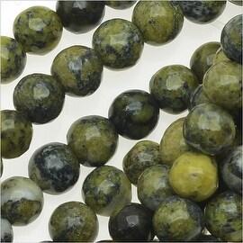 Yellow Turquoise Gem Round Beads 4mm/15.5 Inch Strand
