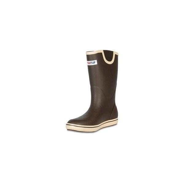 "Xtratuf Men's 12"" Brown Deck Boots w/ Non-Marking Chevron Outsole - Size 13"