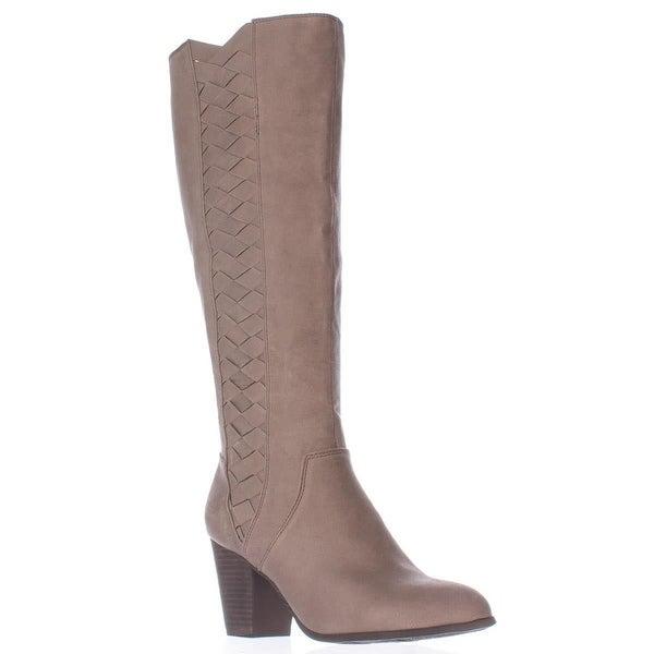 Fergalicious Cally Woven Side Tall Boots, Doe