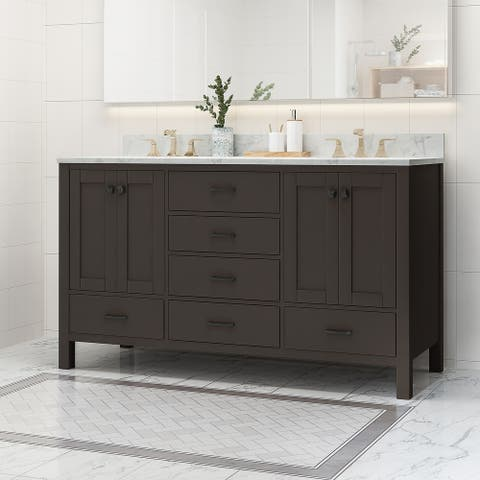 Laranne Wood Double Sink Bathroom Vanity by Christopher Knight Home