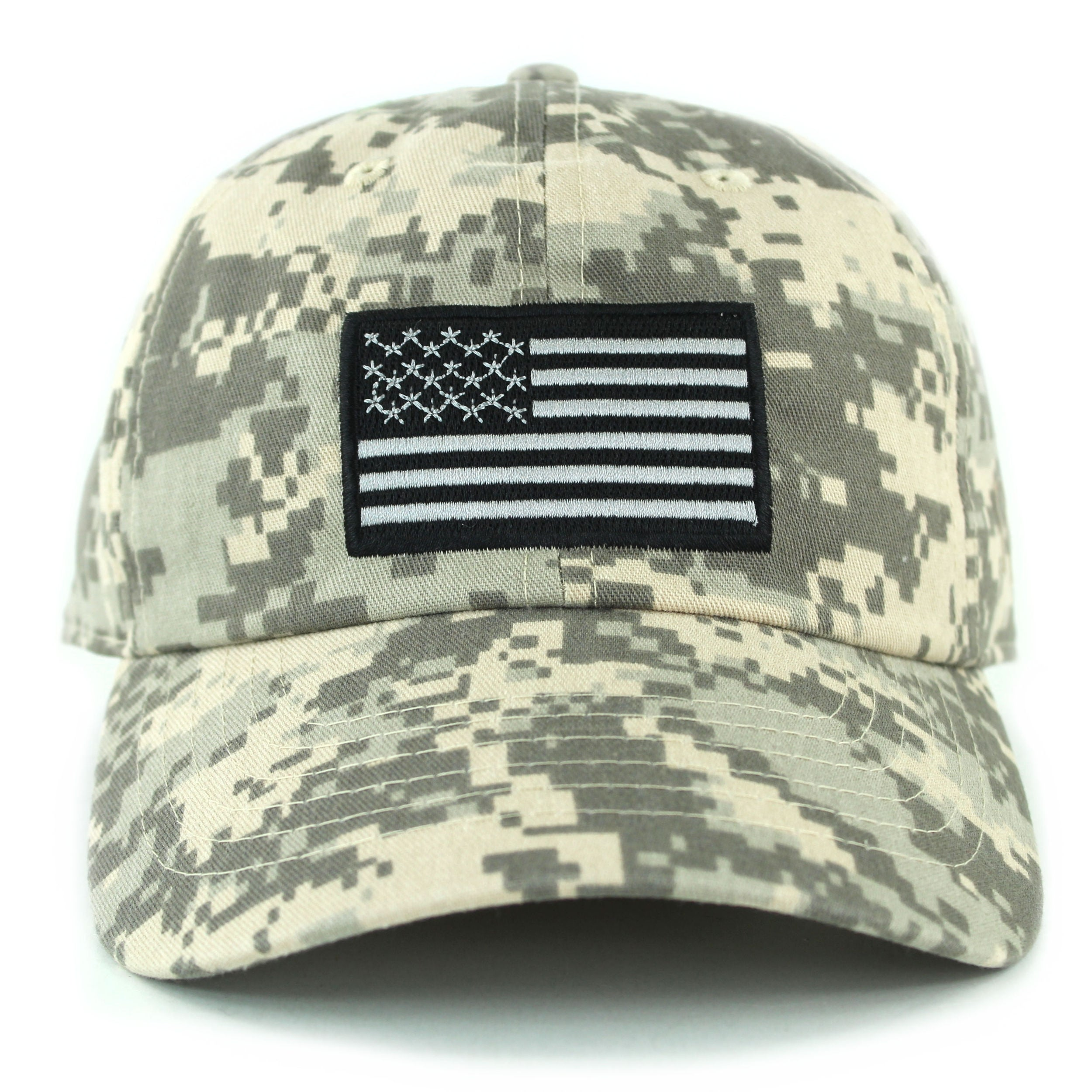 Camouflage Black /& Green U.S.A Flag Baseball Cap low profile Structured Hat