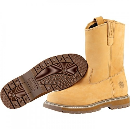 Muck Boot's Wellie Men's Wheat Work Boot w/ Hydroguard Membrane - Size 10.5