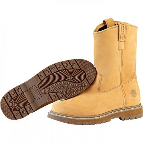Muck Boot's Wellie Men's Wheat Work Boot w/ Hydroguard Membrane - Size 8