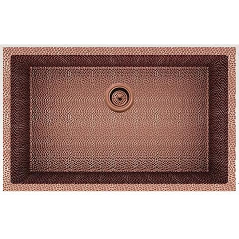 American Imaginations 29-in. W CSA Approved Rose Copper Kitchen Sink With Copper Finish And 16 Gauge - 18