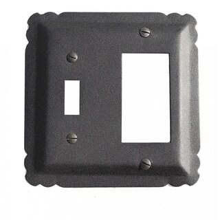 Switchplate Black Wrought Iron GFI/Toggle 5 1/4