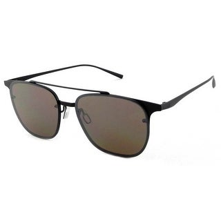 Peppers Polarized Sunglasses Trance Matte Black with Silver Mirror Lens