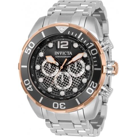 Invicta Men's 33828 'Pro Diver' Stainless Steel Watch - Black