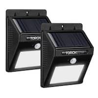 LED Solar Powered Motion Sensor Lights, Wireless Outdoor Wall Lighting,Balck