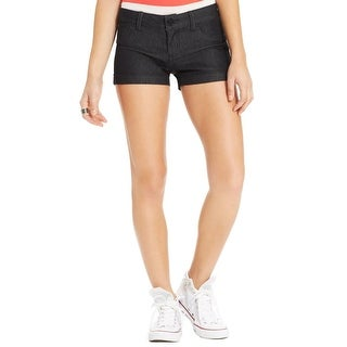 Indigo Rein Womens Juniors Denim Shorts Low-Rise Flat Front - 3