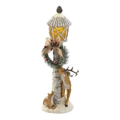 Popular Light Post Reindeer Figurine - Gold