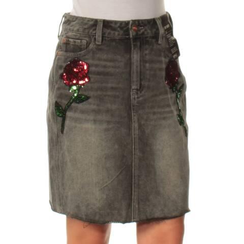 BUFFALO Womens Black Above The Knee Pencil Skirt Size 28 Waist