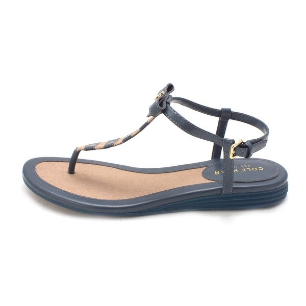 Cole Haan Womens Kathesam Open Toe Casual T-Strap Sandals - 6