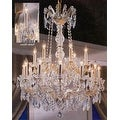 Swarovski Crystal Trimmed Maria Theresa Chandelier Lighting - Thumbnail 0