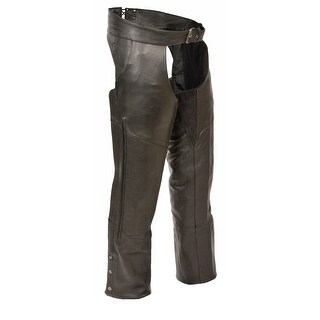 Mens Leather Vented Stretch Thigh Chaps