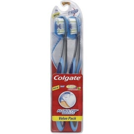 Colgate 360 Total Advanced Floss-Tip Bristles Toothbrush, Full Head Soft 2 ea