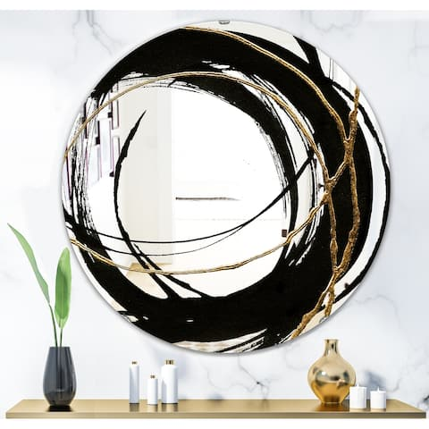 Porch & Den 'Black & White 10' Glam Mirror - Black