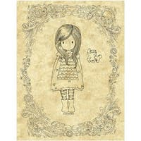 Gorjuss Santoro Rubber Stamp-The Little Friend
