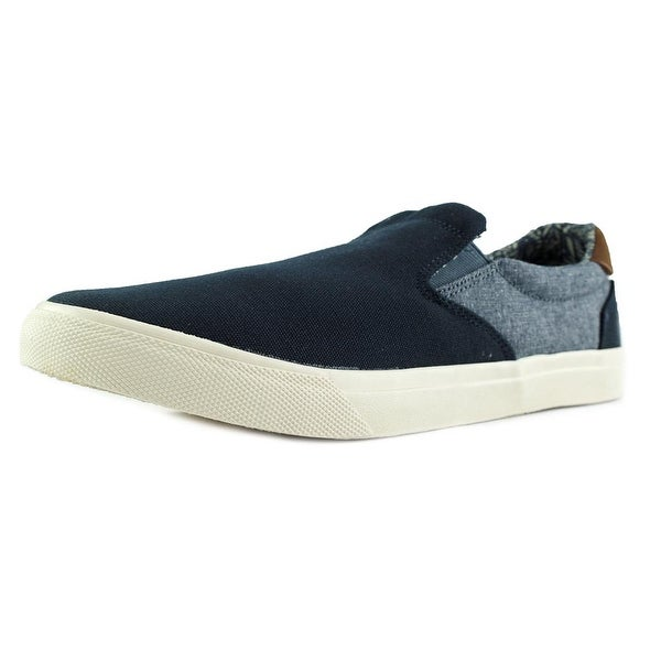 Crevo Baldwin Men Round Toe Canvas Blue Loafer
