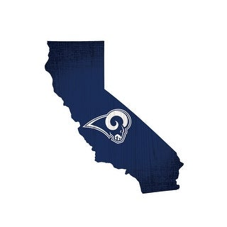 Los Angeles Rams Sign Wood Logo State Design