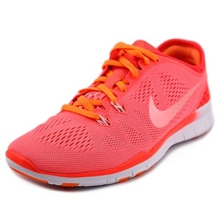 Nike Free 5.0 TR Fit 5 Brthe Women Round Toe Synthetic Pink Running Shoe