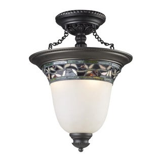 Landmark Lighting 70132-3 Three Light Down Lighting Semi Flush Ceiling Fixture from the English Ivy Collection