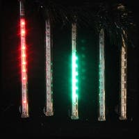 "Snowfall - Set of 5 Double-Sided 22.5"" LED Christmas Icicle Light Tubes - Multi"