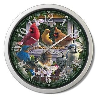 Reflective Art RAI29303 15 in. Springtime Melody Decorative Clock
