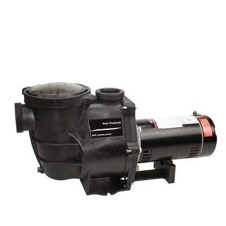 1.5 HP High Performance Self-Priming Full-Flow Hydraulic Swimming Pool and Spa Pump - Black