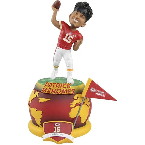 Kansas City Chiefs Patrick Mahomes #15 Spinning Base NFL Resin Bobblehead - Red