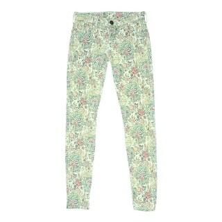 True Religion Womens Chrissy Skinny Jeans Denim Paisley Print