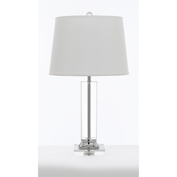 Crystal Column Table Lamp With Shade Modern Contemporary