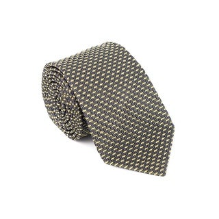 Tom Ford Mens Green Woven Pattern Silk Classic Tie - One size