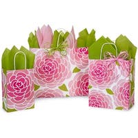 "Pack Of 125, Assortment Rose Blossoms Paper Shopping Bag 50 Rose(5.5"" x 3.25"" x 8-3/8""), 50 Cub(8"" x 4.75"" x 10.25"") & 25 Vogue"