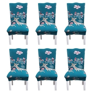 6Pcs Comfortable  Print Pattern Family Party Seat Cover
