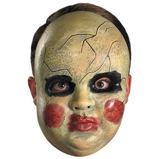 Smeary Baby Doll Face Mask Adult Costume Accessory