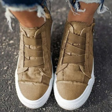 Women's Shoes Large Size Canvas High-Top Casual Shoes