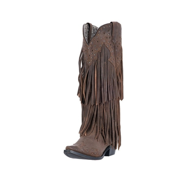 Laredo Brown Leather Dining Chair: Shop Laredo Western Boots Womens Fringe Motion Snip Toe