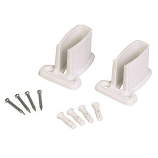 "Closetmaid 71926 Resin Wall Bracket, White, 2-7/8"" X 2-1/8"" X 1-3/4"", 2/CD"