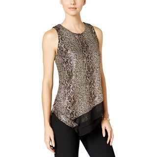 MSK Womens Casual Top Metallic Animal Print (2 options available)